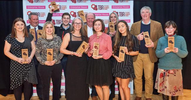 Who won the prizes at Teesdale Business Awards?