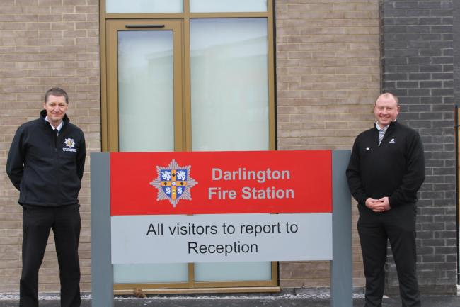 Francis Jones at the new Darlington Fire Station, where Sparta delivered security services without incident